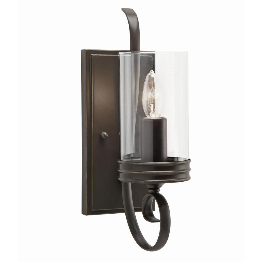 Lighting Wall Lights Kichler Diana 4 72 In W 1 Light Olde Bronze Arm Wall Sconce At