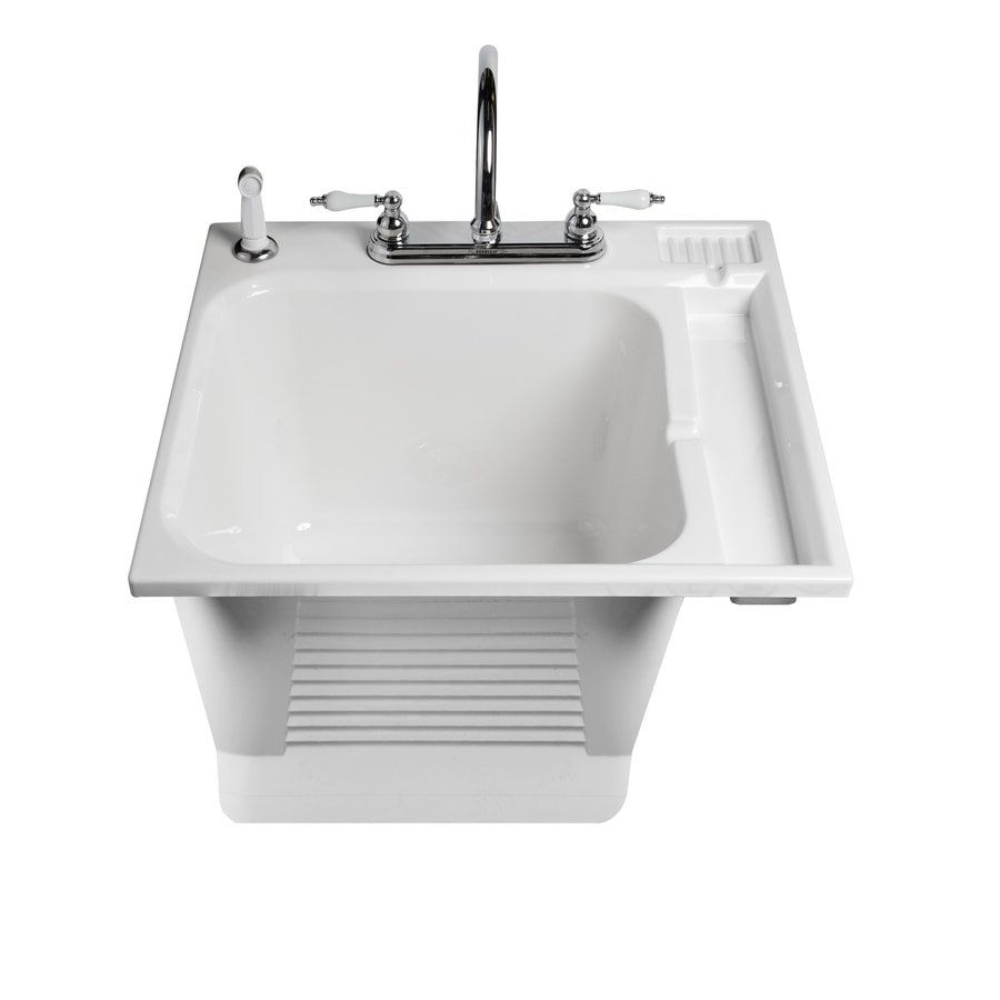 Shop Asb White Drop In Plastic Utility Tub At Lowescom