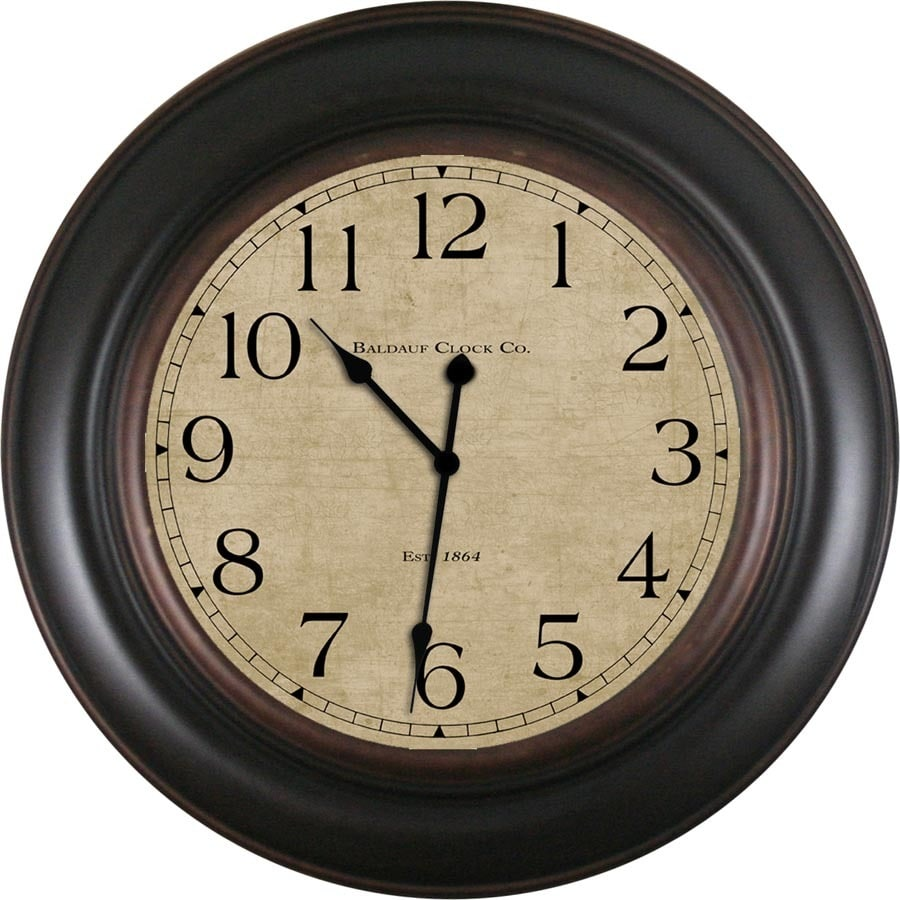& Wall Clock Allen Roth Analog Round Indoor Wall Clock At Lowes
