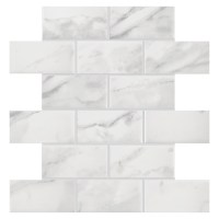 Shop American Olean Mooreland Carrara White Ceramic Brick ...