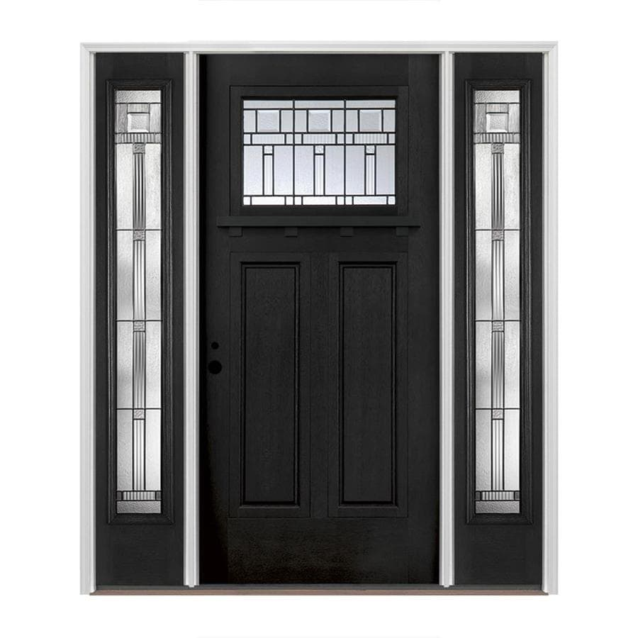 Glass Front Door Pella Craftsman Decorative Glass Right Hand Inswing Painted