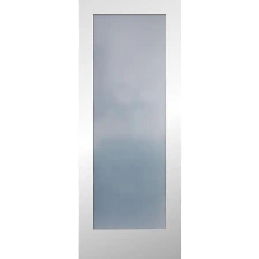 Reliabilt full lite frosted glass slab interior door common 24 in x 80