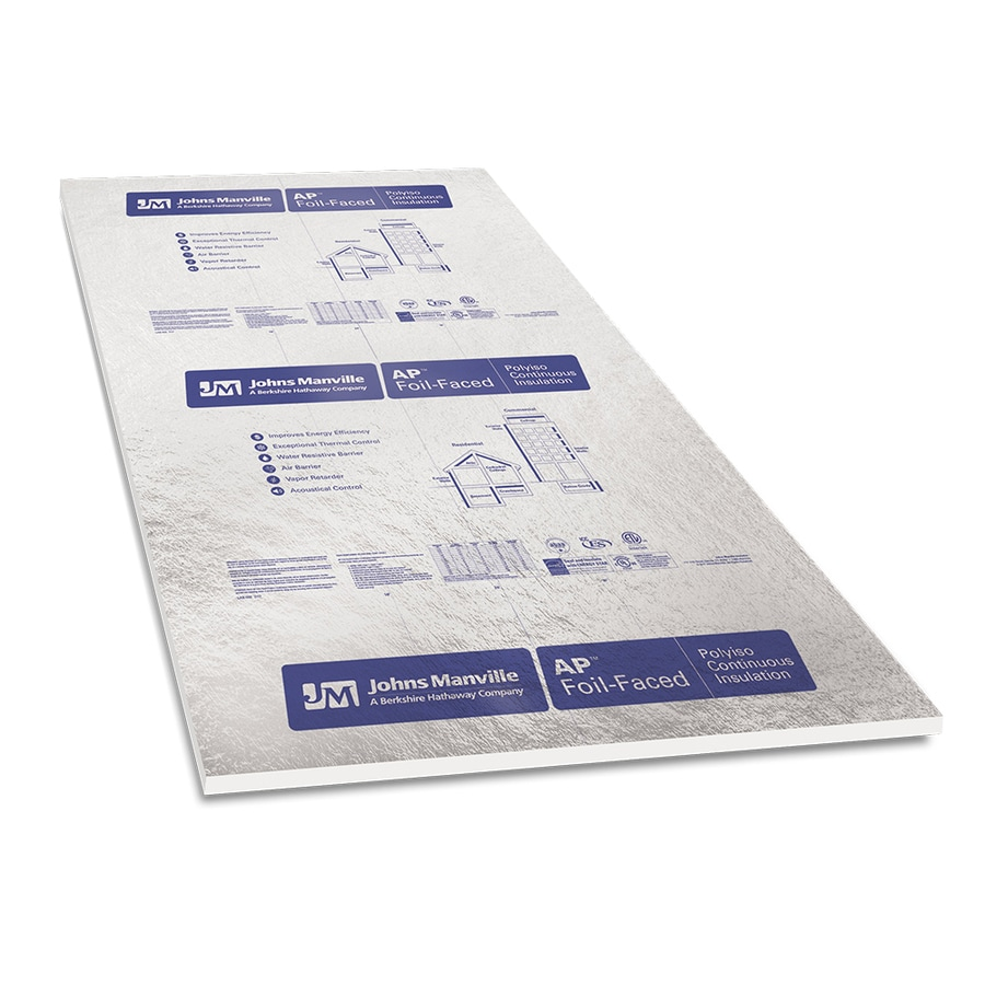 Rigid Insulation Types Johns Manville Common 1 In X 4 Ft X 8 Ft Actual 1 In X 4 Ft X