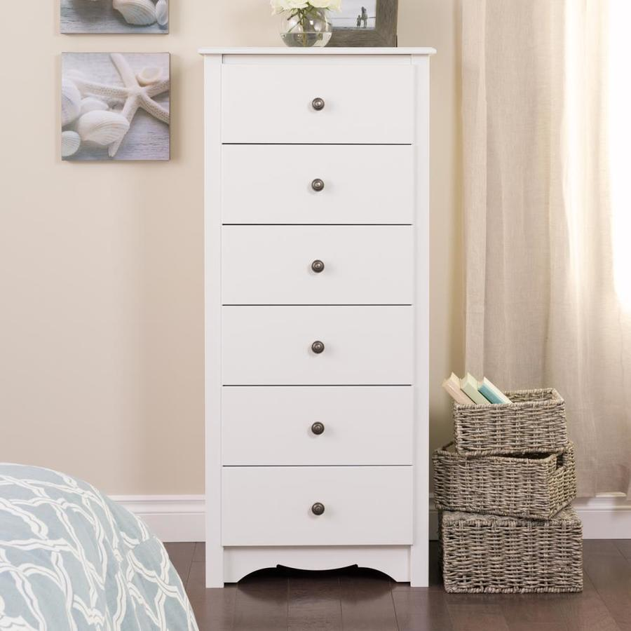6 Drawer Chest Of Drawers Prepac Monterey White 6 Drawer Lingerie Chest At Lowes