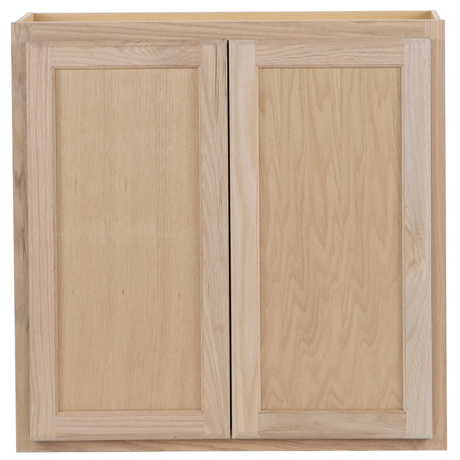Project Source 30 In W X 30 In H X 12 In D Natural Unfinished Door Wall Stock Cabinet In The Stock Kitchen Cabinets Department At Lowes Com
