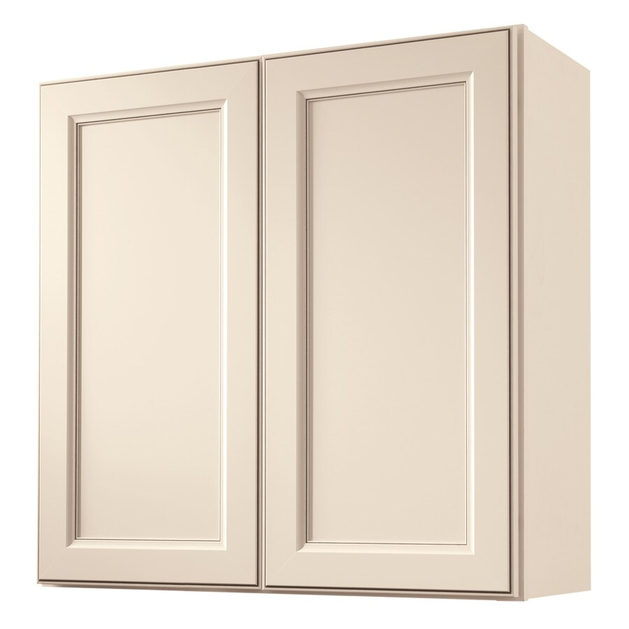 Diamond Now Caspian 30 In W X 30 In H X 12 In D Truecolor Toasted Antique Door Wall Stock Cabinet In The Stock Kitchen Cabinets Department At Lowes Com