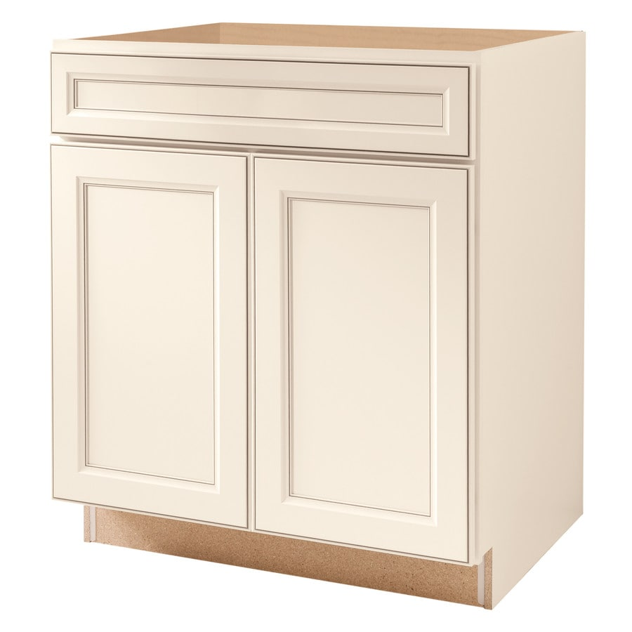 Diamond Now Caspian 30 In W X 35 In H X 23 75 In D Truecolor Toasted Antique Door And Drawer Base Stock Cabinet In The Stock Kitchen Cabinets Department At Lowes Com