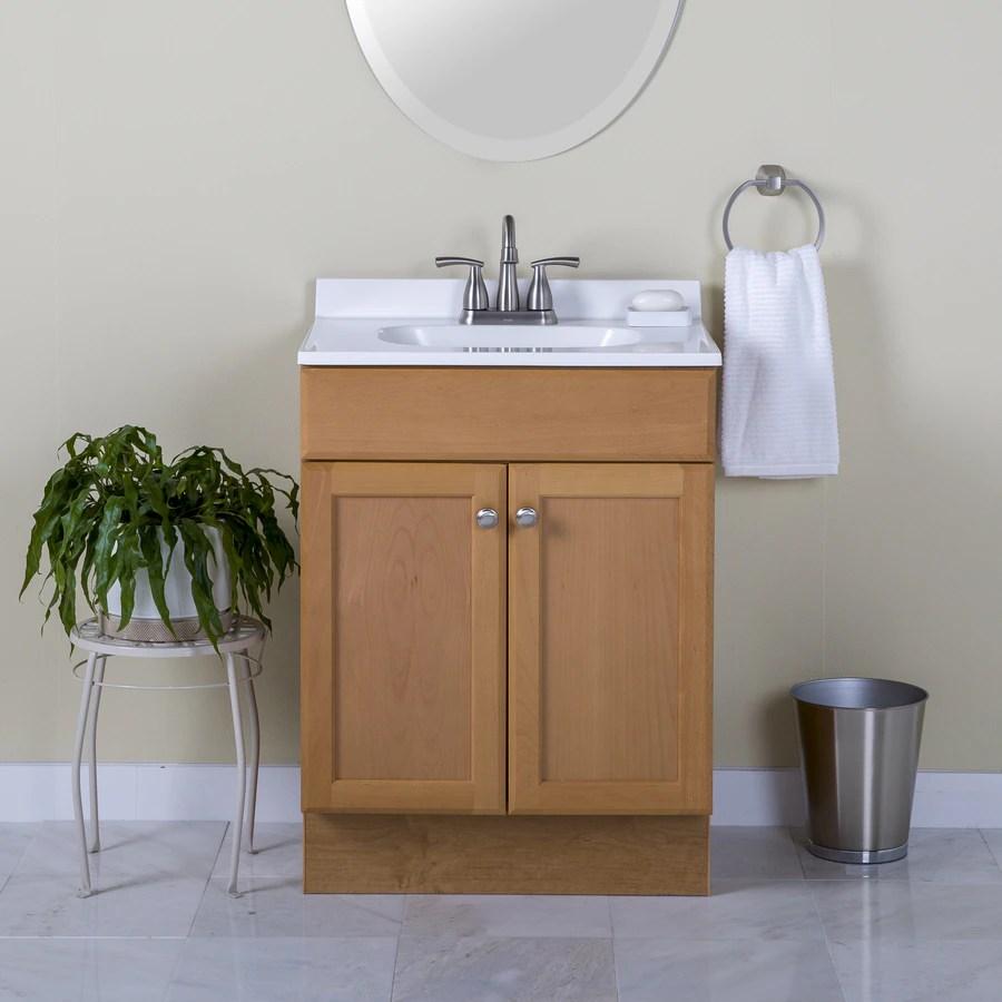 Project Source 245 In Golden Single Sink Bathroom Vanity