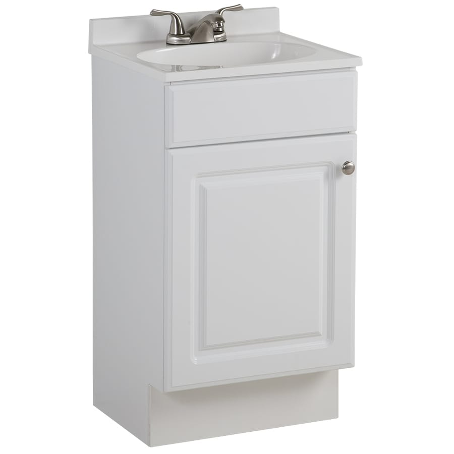 Small Bathroom Vanity With Sink Project Source 18 6 In White Single Sink Bathroom Vanity With