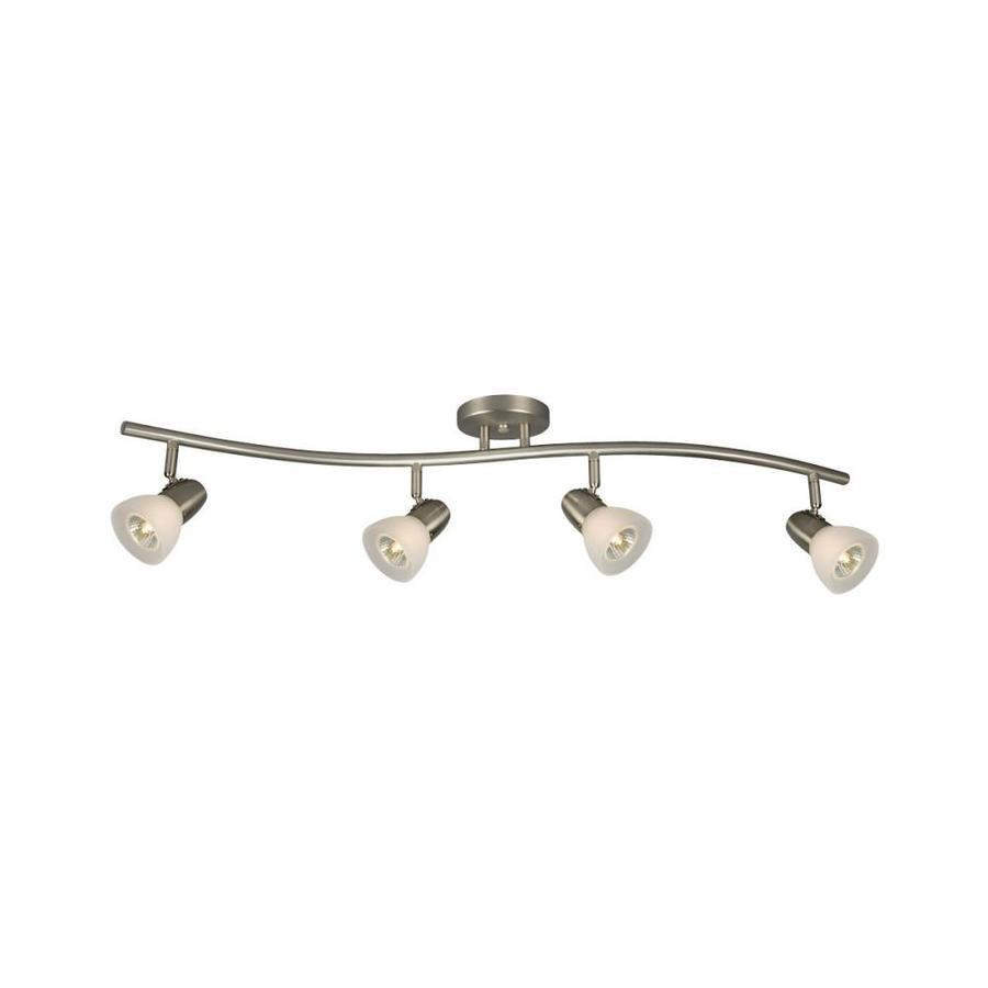 Galaxy Lighting Galaxy Lighting Luna 4 Light 34 In Brushed Nickel Track Bar Fixed