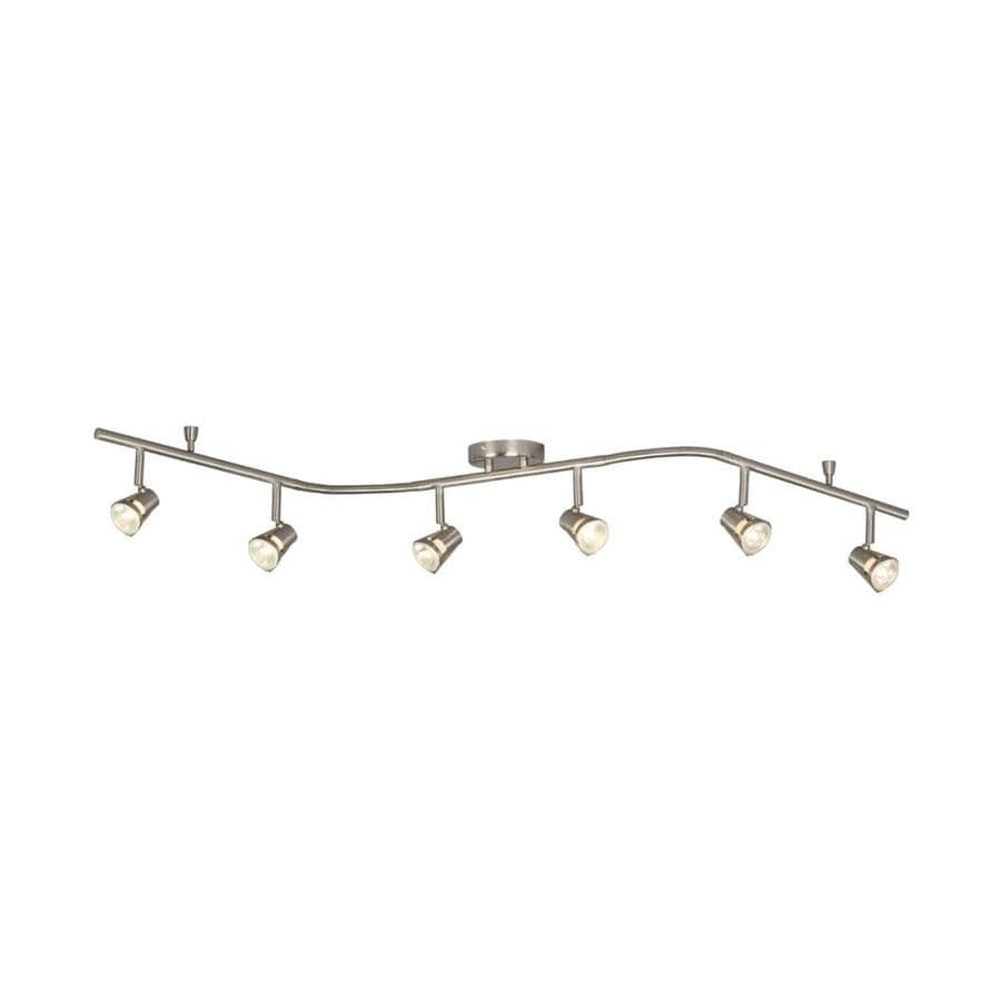 Galaxy Lighting Galaxy Lighting 6 Light 61 In Brushed Nickel Dimmable Flexible