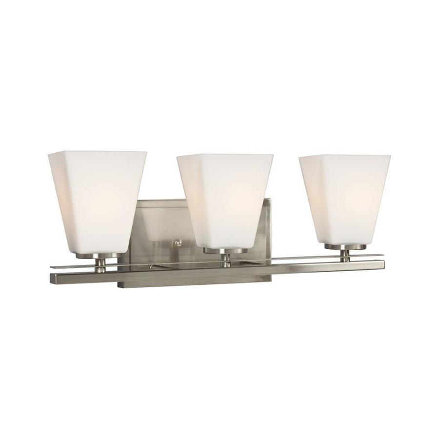 Galaxy Lighting Galaxy Lighting Bradley Ii 3 Light 7 5 In Brushed Nickel Bell