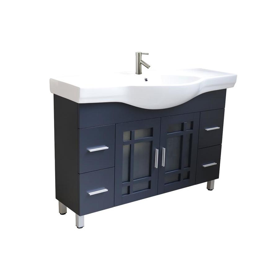 Dg Home Bellaterra Home Lv3138 Dg Single Vanity 48 In Dark Gray Single