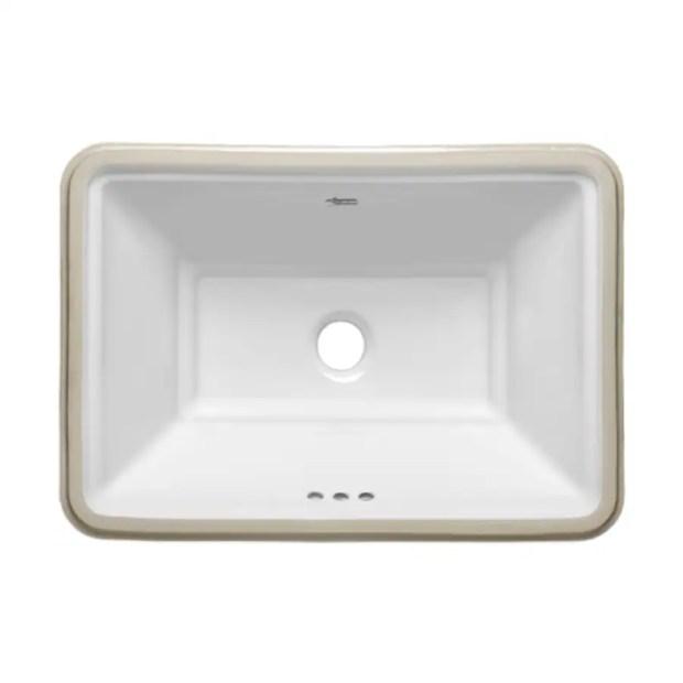 american standard esteem white undermount bathroom sinks