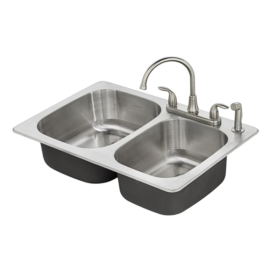 Shop American Standard Fairport 33 In X 22 In Stainless