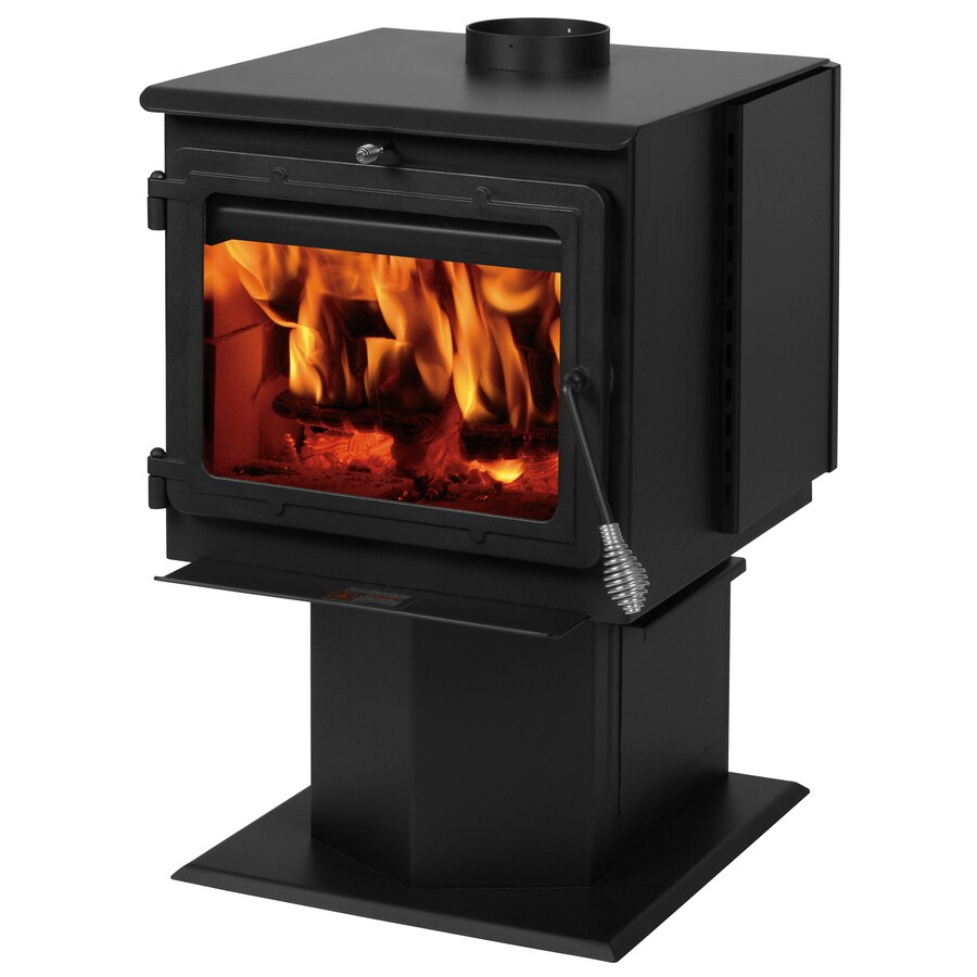 Glass Fireplace Doors Lowes Summers Heat 2000 Sq Ft Wood Burning Stove At Lowes