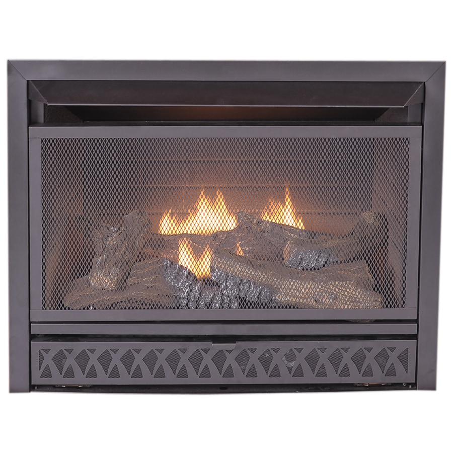 Free Fireplace Insert Procom 28 75 In W 26 000 Btu Black Vent Free Dual Burner Gas