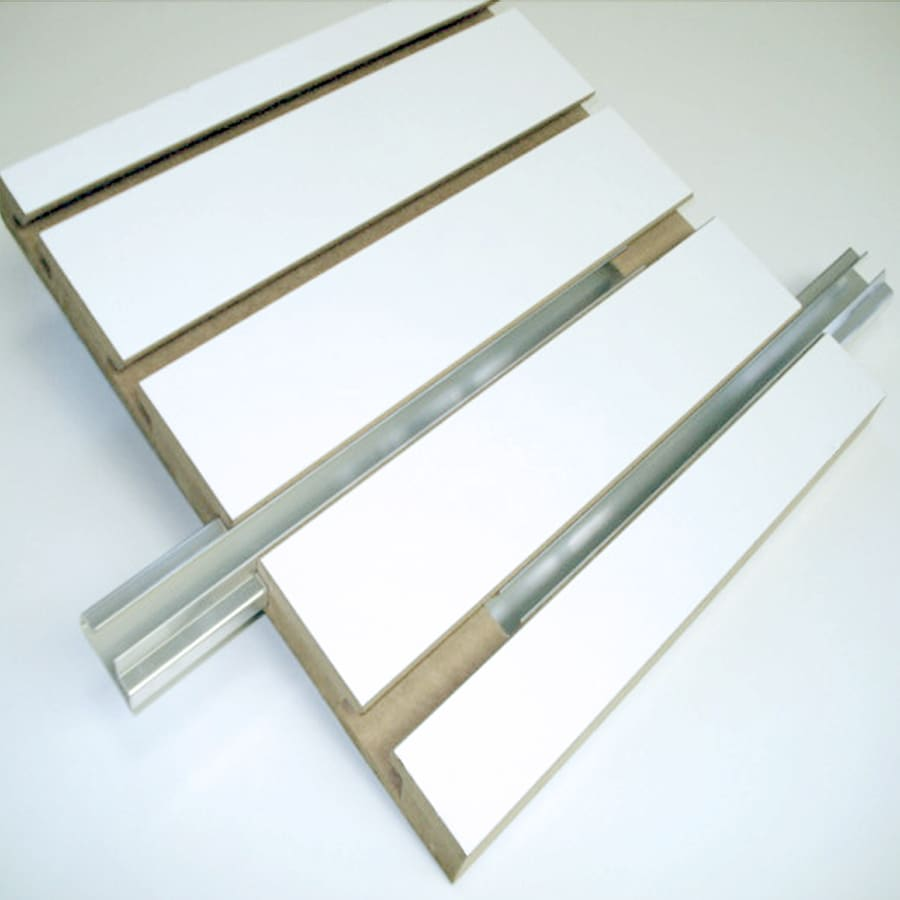 Slat Walls Holland Panel Products Mdf Slatwall Common 4 Ft X 8 Ft Actual