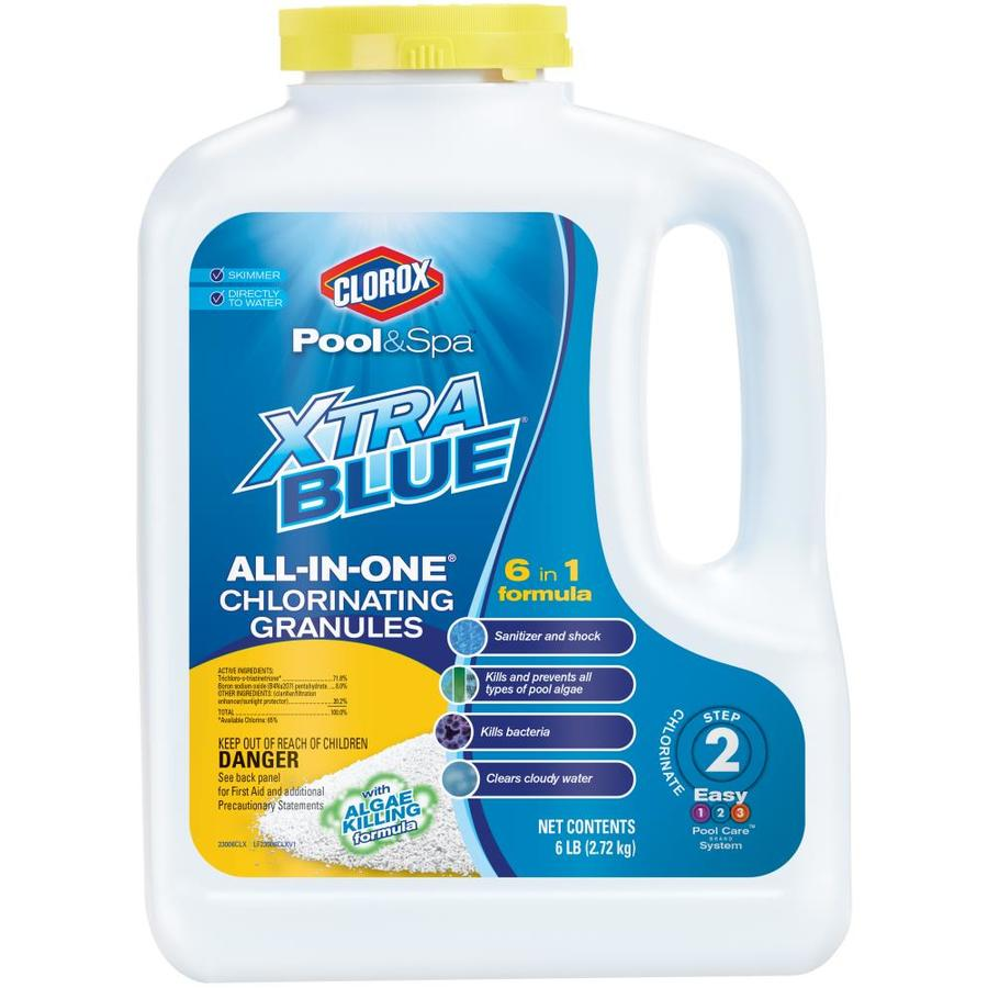 Granule Lg Clorox Pool Spa Xtrablue All In One 6 Lb Granular Pool Chlorine At