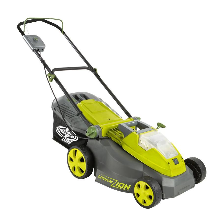 Electric Lawn Mower Sale Cordless Electric Push Lawn Mowers At Lowes