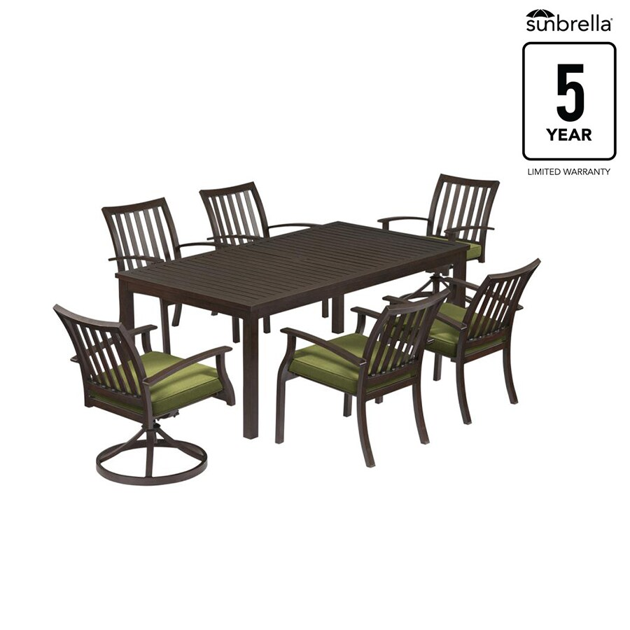 7 Piece Patio Set Gatewood Gatewood 7 Piece Brown Metal Frame Patio Set With