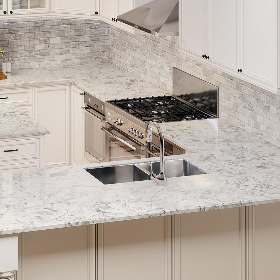 Quartz Countertop Prices Canada Allen Roth Salt Stone Quartz Kitchen Countertop Sample At Lowes