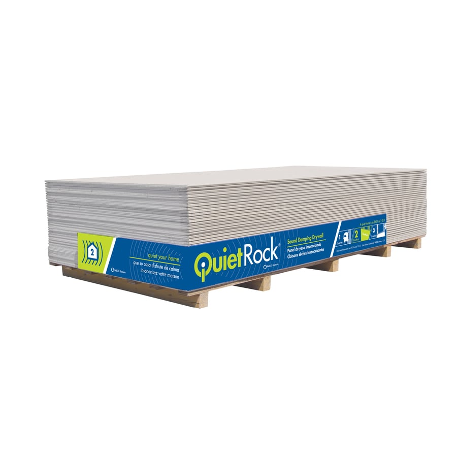 3 8 Drywall Quietrock Common 1 2 In X 4 Ft X 8 Ft Actual 5 In X 4 Ft X 8