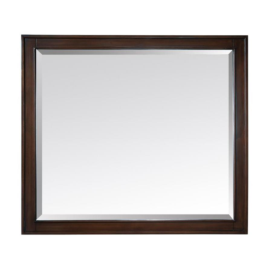 Light Bathroom Mirror Avanity Madison 36 In Light Espresso Rectangular Bathroom Mirror