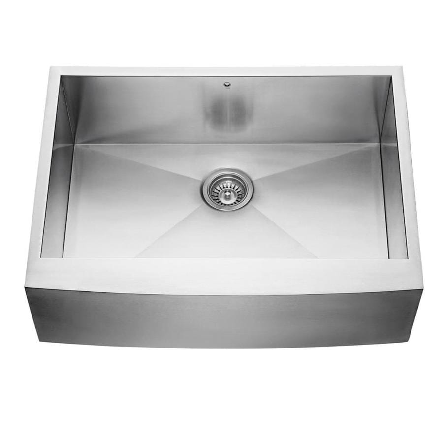 Shop Vigo 30 In X 20 In Stainless Steel Single Basin