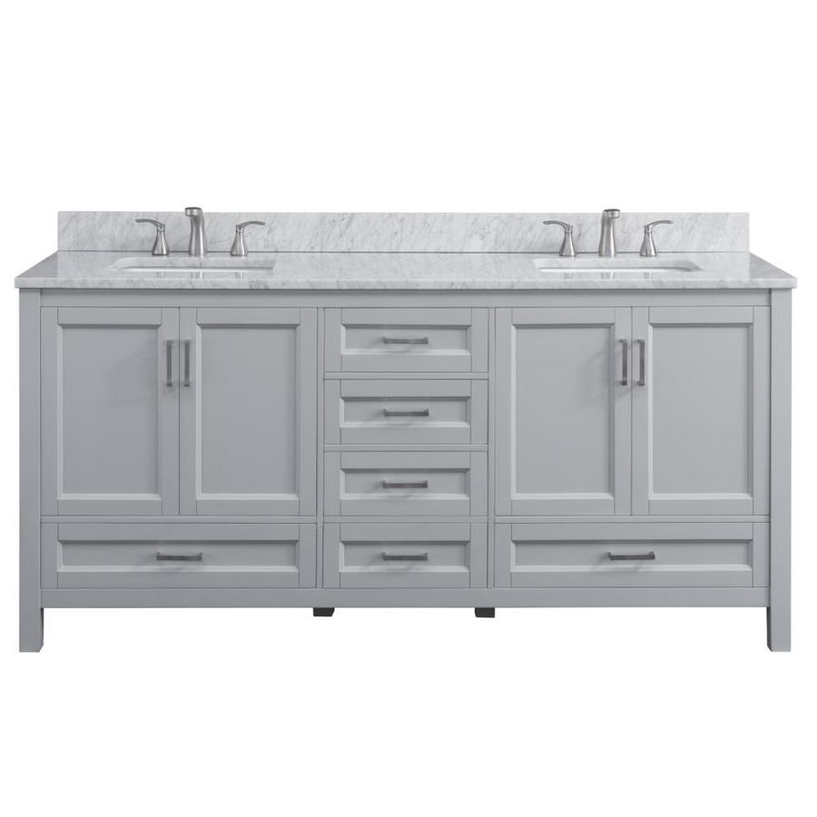 Bathroom Vanity 72 Double Sink Scott Living Durham 72 In Light Gray Double Sink Bathroom Vanity