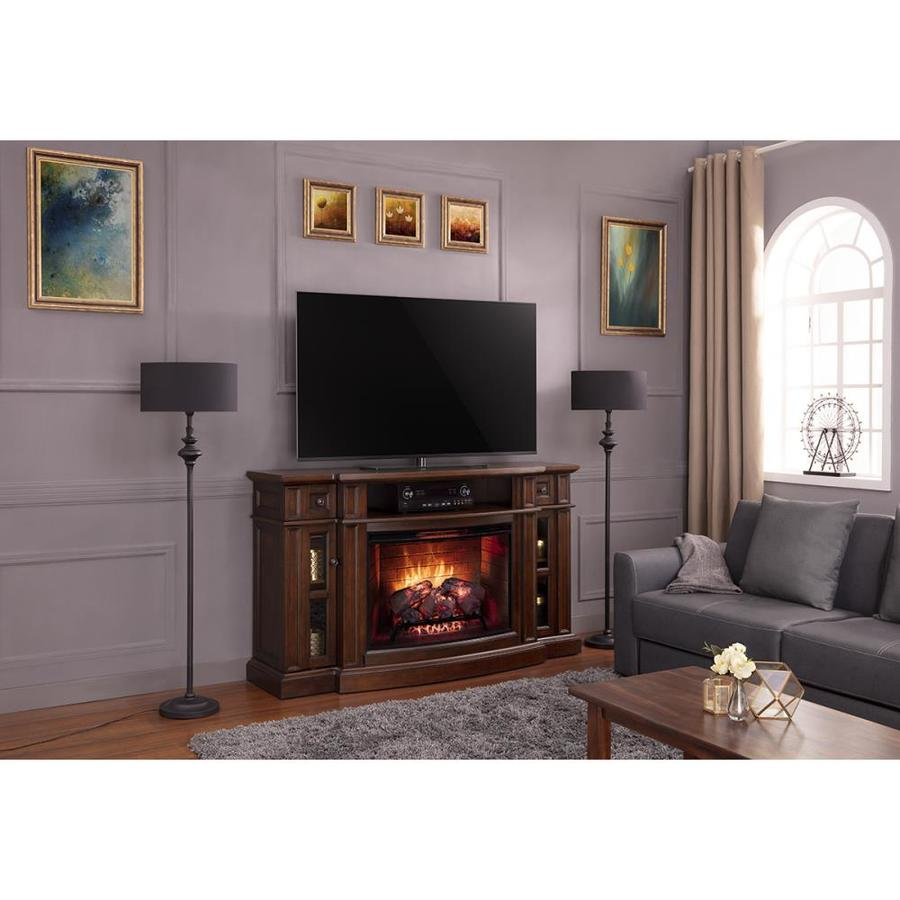 How To Operate A Fireplace Scott Living 68 In W Chestnut Infrared Quartz Electric Fireplace