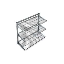 Small Crop Of Metal Wall Storage Shelves