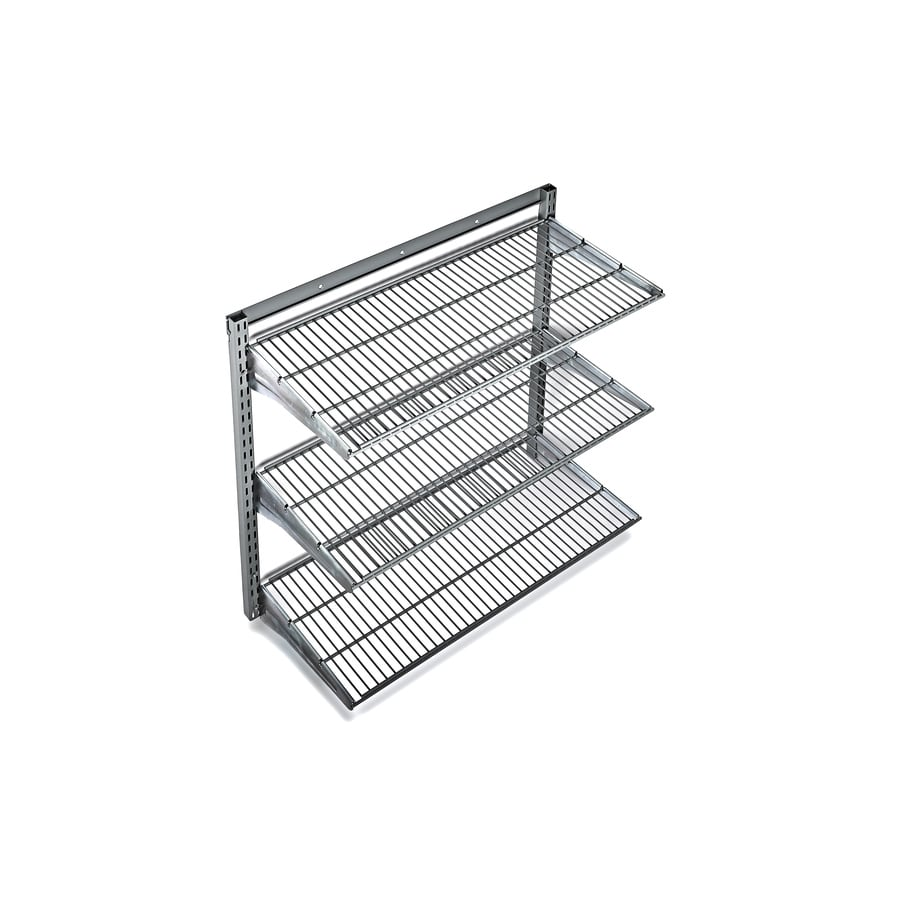 Shelving Shop Storability 33 In L X 31 In H X 16 In D Steel Wall Mounted