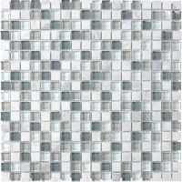 Shop allen + roth Venatino Stone And Glass Uniform Squares ...