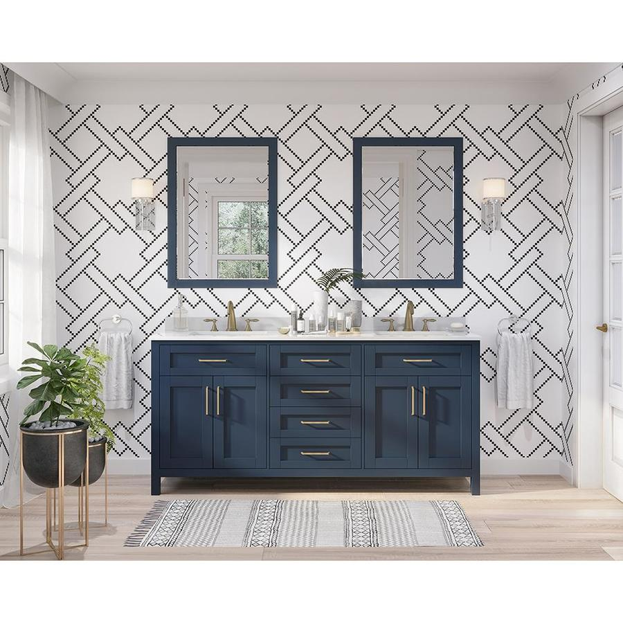 Bathroom Vanity 72 Double Sink Ove Decors Tahoe 72 In Midnight Blue Double Sink Bathroom Vanity