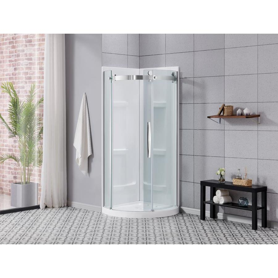 Ove Decors Bel 31 4 In X 73 62 In White Shower Surround Corner Wall Panel In The Shower Wall Panels Department At Lowes Com