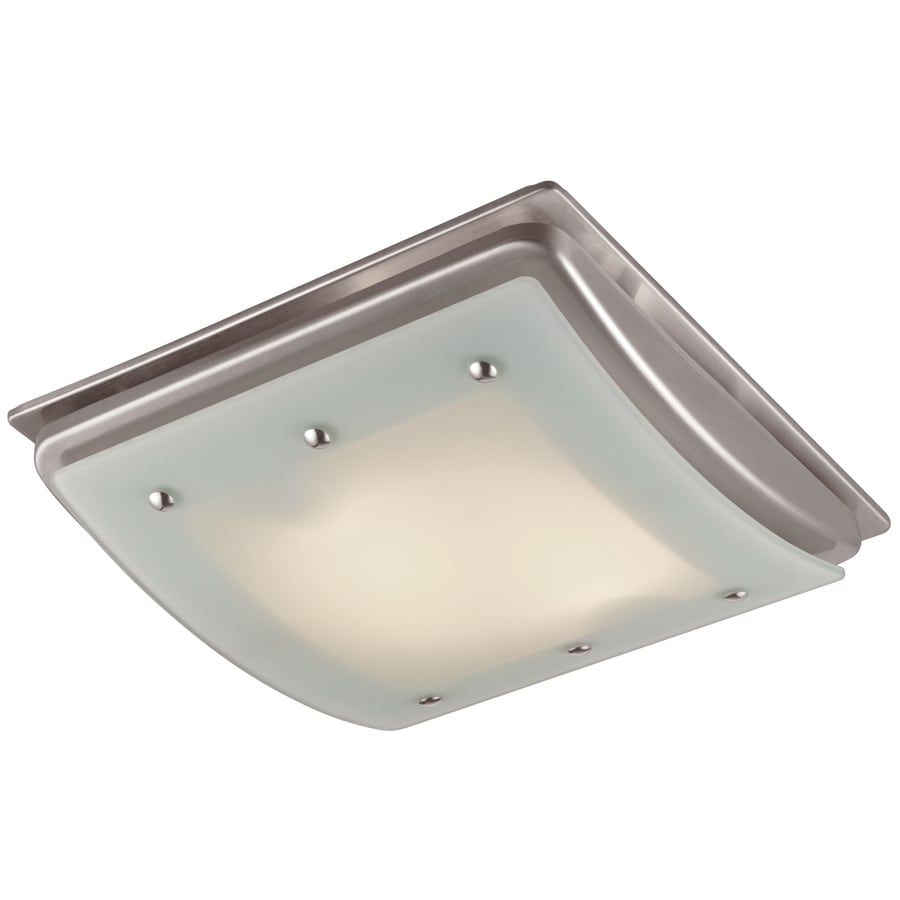 Utilitech 1 5 sone 100 cfm brushed nickel bathroom fan incandescent with light