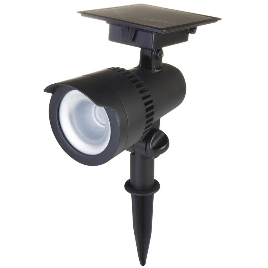 Led Spot Portfolio 40 Lumen Black Solar Led Spot Light At Lowes