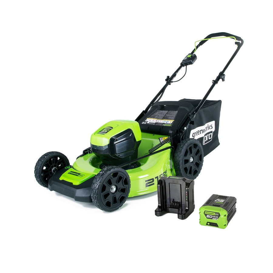 Electric Lawn Mower Sale Greenworks Pro 60 Volt Brushless Lithium Ion 21 In Cordless