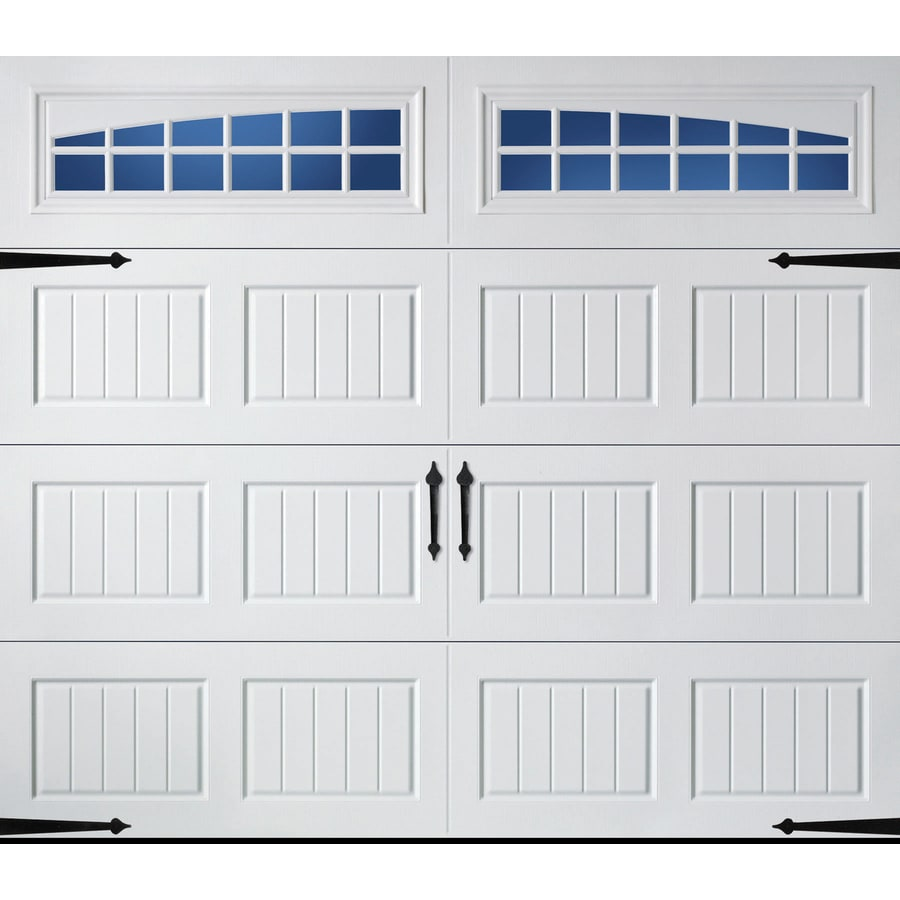 Garage Doors Lowes Canada Pella Carriage House 96 In X 84 In Insulated White Single Garage
