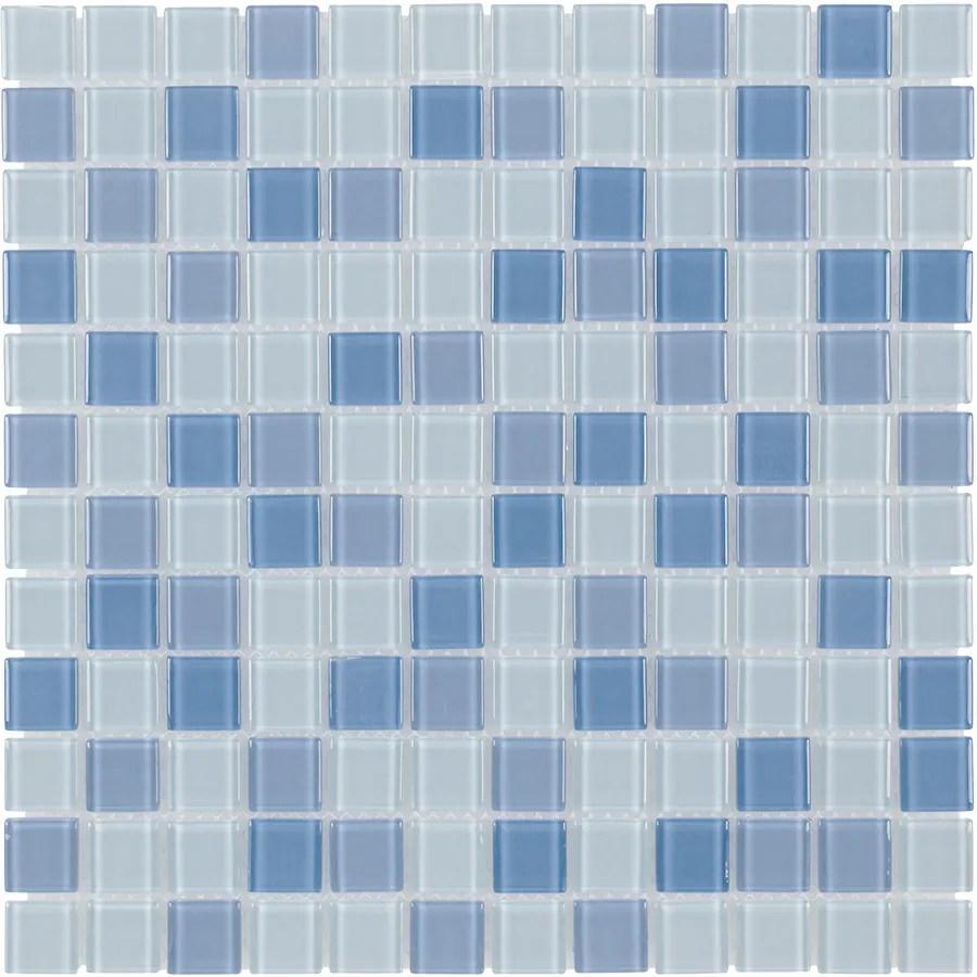Shop Elida Ceramica Baby Blue Multicolor Uniform Squares