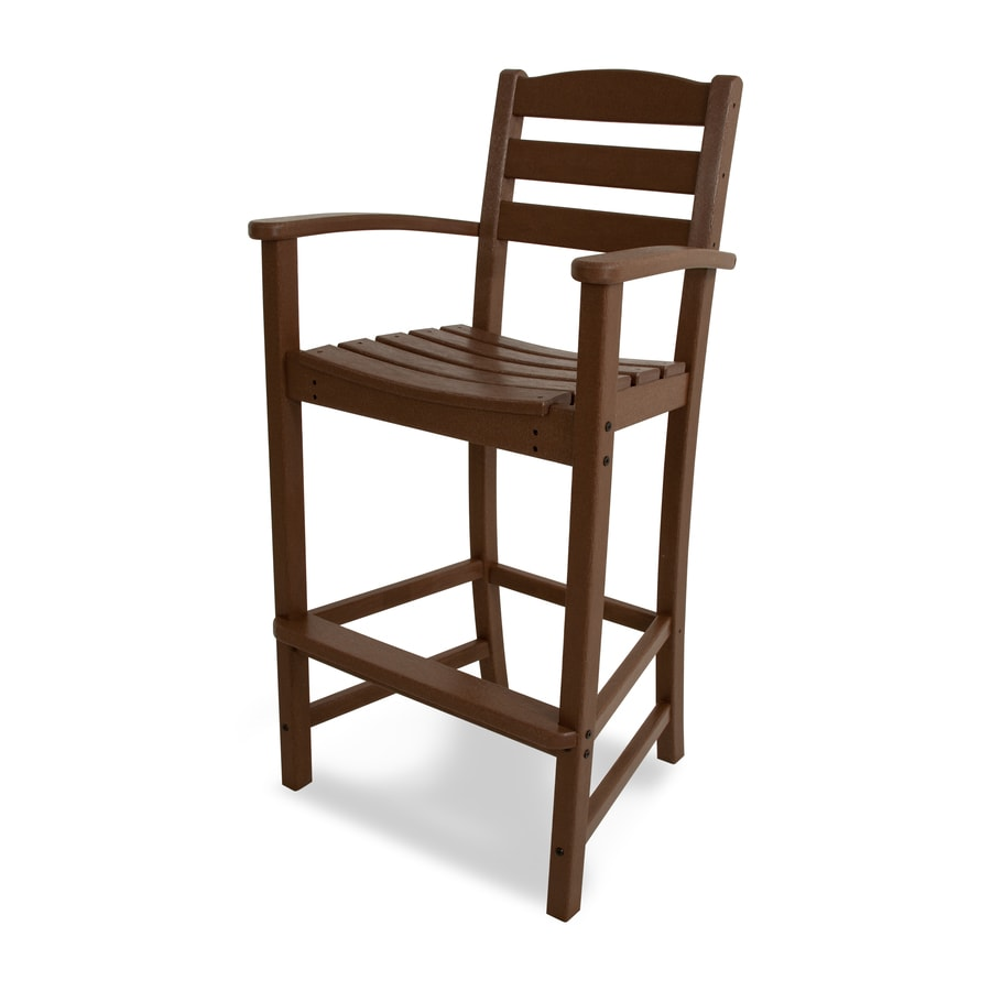 Stool Chair Polywood La Casa Cafe Hdpe Bar Stool Chair With Slat Seat At Lowes