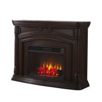 Shop Style Selections 62-in W 5,200-BTU Walnut Wood ...
