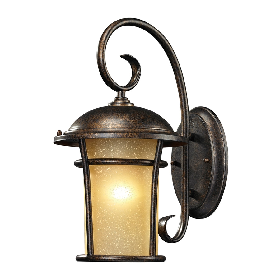 Led Regal Westmore Lighting Astley 17 In H Led Regal Bronze And Amber Glass