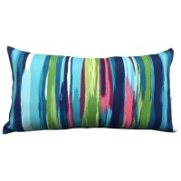 Shop allen + roth Blue and Striped Rectangular Lumbar ...