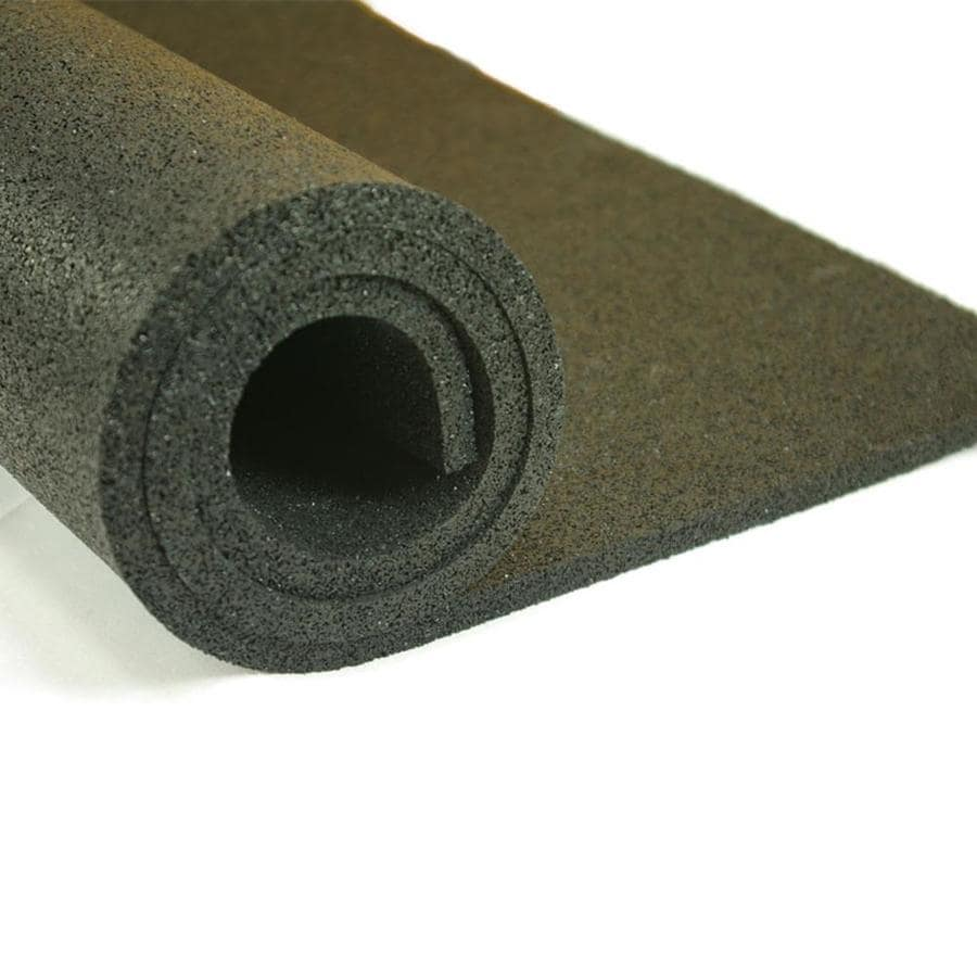 Nutek 48 in x 120 in black loose lay rubber sheet