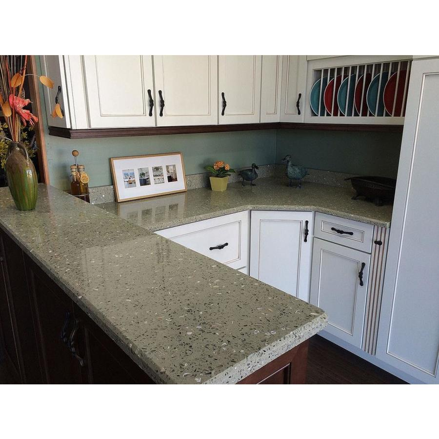 Recycled Countertops Curava Lemongrass Recycled Glass Kitchen Countertop Sample At