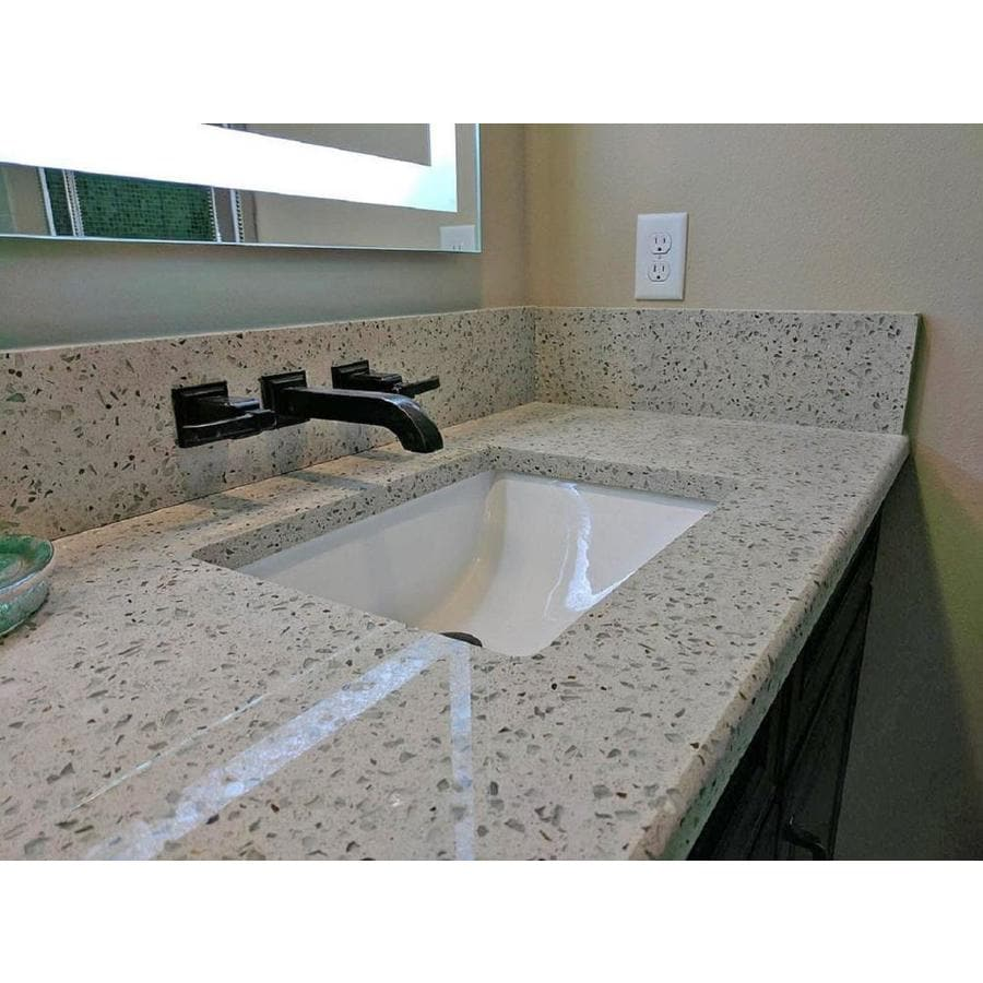 Recycled Countertops Curava Gelato Recycled Glass Kitchen Countertop Sample At Lowes