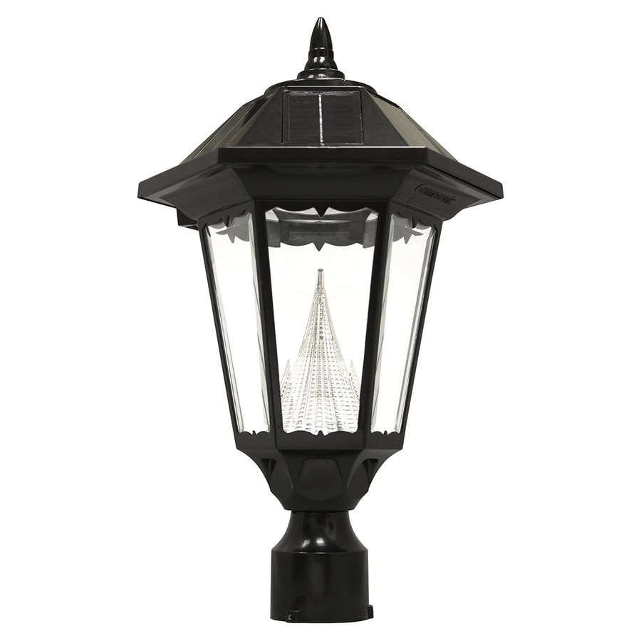 Exterior Led Light Fixtures Gama Sonic Windsor 150 Lumen 20 In Black Traditional Post Light At