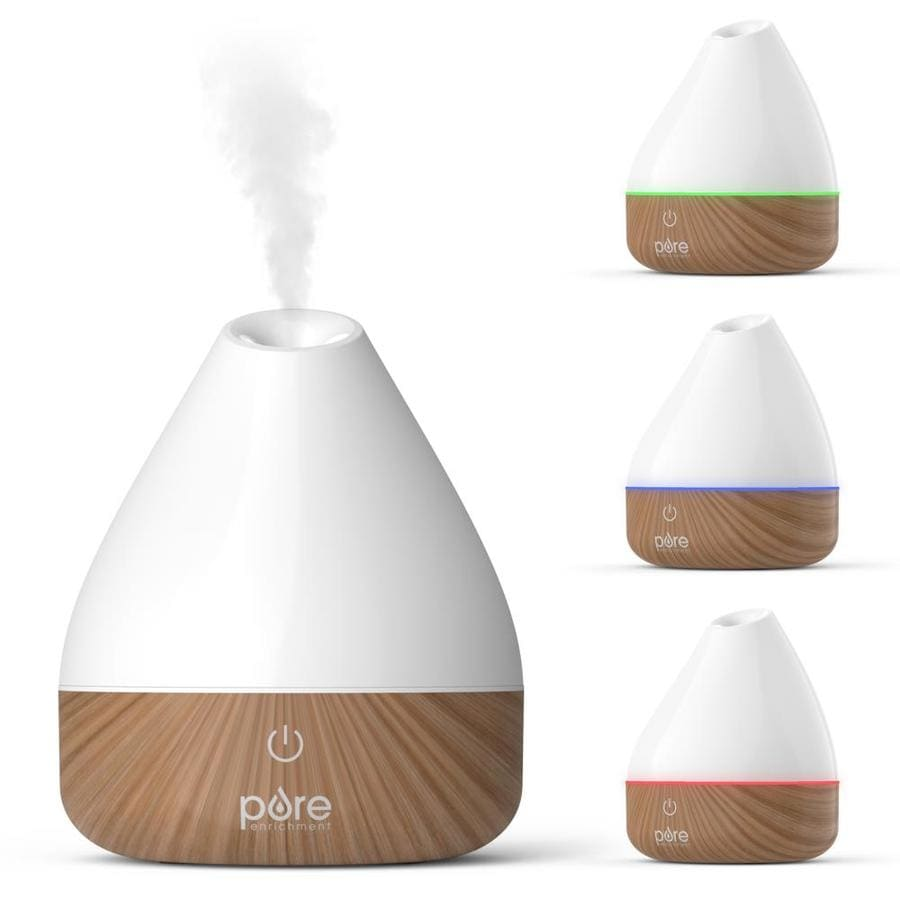 Pure Enrichment Purespa Natural Essential Oil Diffuser White 0528 Gallon Tabletop Evaporative Humidifier For Rooms 151 400 Sq Ft In The Humidifiers Department At Lowes Com